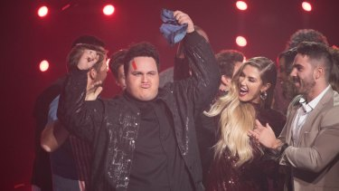 The moment Judah Kelly, from Team Delta, found out he had won The Voice 2017.