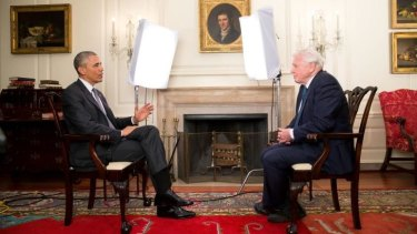 Barack Obama and David Attenborough meet to discuss the environment at The White House.