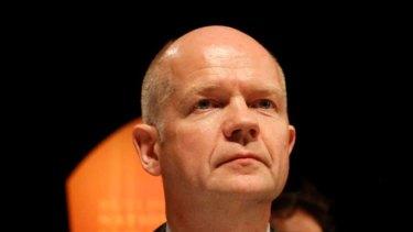 British Foreign Secretary William Hague.
