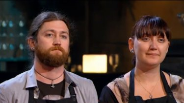 """""""We know we can cook food"""" ... Kieran and Nastassia prove confidence is not a problem."""