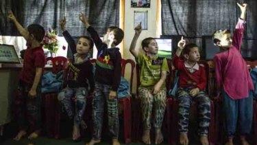 Children at Women for Afghan Women home in Kunduz.