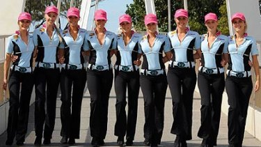 The V8 Supercars girls will show a little less flesh and a little more class this year.