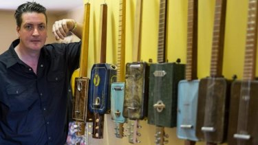 """Guitar maker Jon Free: """"It's easy to tell if it's mine because the headstock is on the wrong end,"""" he says."""