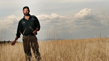 Land management technical officer Rod White at the Moolapio grasslands, near Geelong.