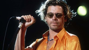 Revival ... the late Michael Hutchence's hits with INXS have surged to the top of the Australian charts again.