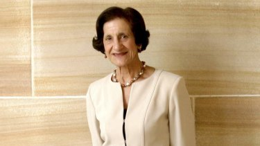 Old-fashioned elegance: The first woman to become governor of NSW, Professor Marie Bashir.