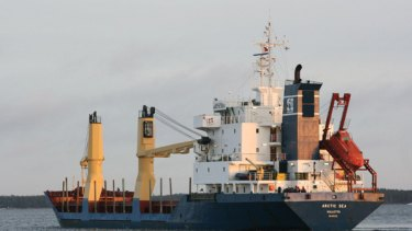 This photo taken on December 29, 2008 shows cargo ship Arctic Sea off the caost of Kotka, southern Finland.