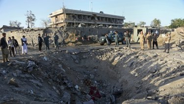 The suicide truck bomb hit the outside of the highly secure diplomatic area of Kabul killing scores of people.