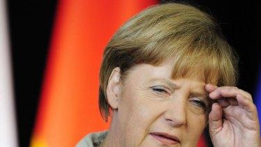 German Chancellor Angela Merkel under pressure.