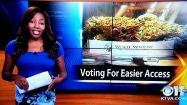Shocked viewers and colleagues ... KTVA journalist Charlo Greene, quits live on air.