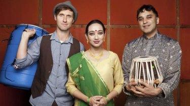 Integrated: Director Ben Walsh, Indian dancer Shruti Ghosh, and tabla player Bobby Singh.