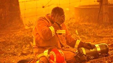 A scene from the Black Saturday bushfires.