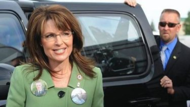 Secret Service Agent David Chaney with Sarah Palin.