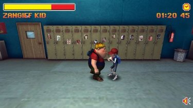 A screen grab from the Zangief kid video game.