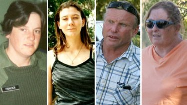 From left to right ... dead, Janelle Goodwin; missing, Amber Haigh; acquitted, Robert Geeves; the wife, Anne.