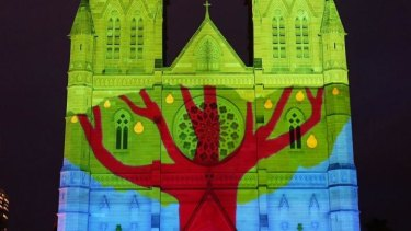 Sydney's St Mary's Cathedral's Christmas lights display. Roy Williams argues Christian leaders need to pose morally courageous questions to our political leaders.