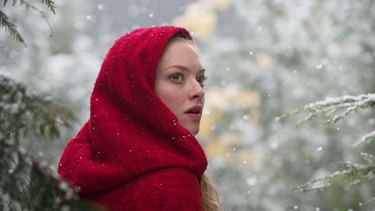 Amanda Seyfried ...  gets by on three expressions — wonder, bewilderment and a frozen-faced commingling of both.