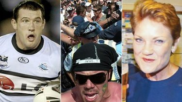 Racist Australia? ... Cronulla captain Paul Gallen, the Cronulla race riots and Pauline Hanson.