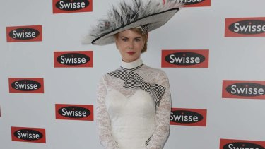 Nicole Kidman at the Swisse marquee at Flemington Racecourse in Melbourne last November
