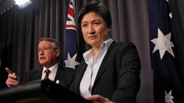 "Treasurer Wayne Swan and Finance Minister Senator Penny Wong announced ""significant savings"" ahead."