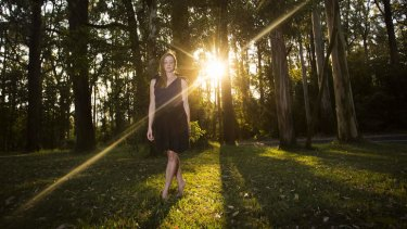 Claire Thomas at home in the Dandenongs.