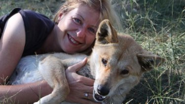 Angels or devils? … Parkhurst says she always felt safer with dingoes around her.