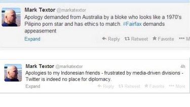 Musings: Tweets sent by Mark Textor in recent days.