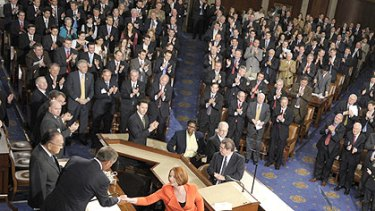 Ms Gillard receives a standing ovation after her address to US Congress.