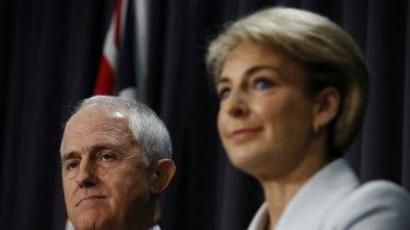 Prime Minister Malcolm Turnbull and Employment Minister Senator Michaelia Cash.