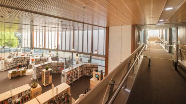 Williamstown Library also has meeting rooms, an exhibition space and a cafe.