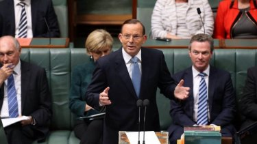 Prime Minister Tony Abbott moved a condolence motion for former prime minister Gough Whitlam at Parliament House in Canberra on Tuesday.