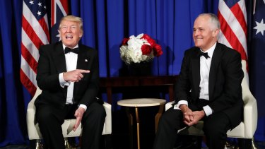 Donald Trump and Malcolm Turnbull are set to meet to discuss issues including North Korea.
