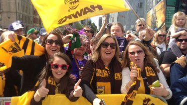 It was thumbs up from Hawthorn fans.