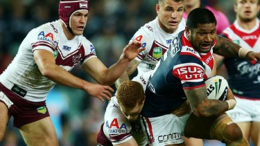 Strong runner: Frank-Paul Nuuausala of the Roosters.