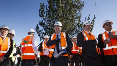 Lendlease chief executive Steve McCann (centre) has called for tax changes to boost affordable rentals.