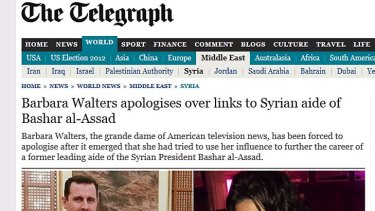Forced to apologise ... how London's <i>The Daily Telegraph</i> broke the story.