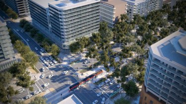A vision of future Canberra as proposed in the City and Gateway Urban Renewal Strategy.