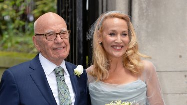 Rupert Murdoch married fourth wife Jerry Hall in March.