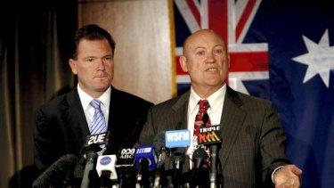 Premier Nathan Rees with Ian Macdonald.