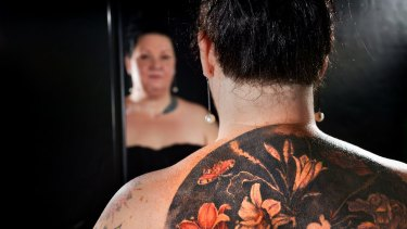 Sandra Minchin-Delohery's back tattoo is a reproduction of a work by a 17th century Dutch artist.