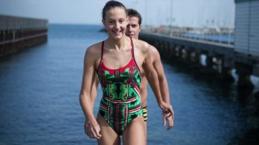 Zahara Cox and Sam Sheppard will compete in 'The Rip' swimming race - the stretch of bay between Point Lonsdale and Point Nepean.