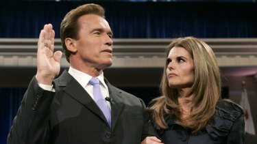 Arnold Schwarzenegger's wife Maria Shriver joined the California Governor when he sworn into office for a second term but the former movie star has acknowledged that he fathered a child more than ten years ago with a member of his household staff.