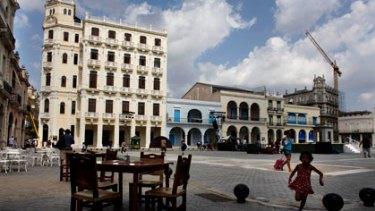 A square in Old Havana, Cuba.
