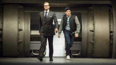 Get suave: Colin Firth and Taron Egerton in <i>Kingsman: The Secret Service</i>.