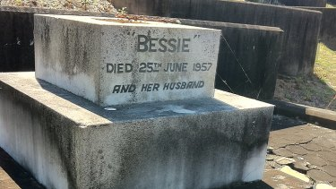 The shared gravestone of Bessie and Walter Porriott at Toowong cemetary. Walter is believed by some to have been Jack the Ripper.