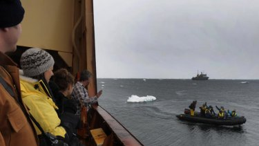 The Aurora Australis is on the way to celebrate the 100th anniversary of Sir Douglas Mawson's Antarctic landing today.