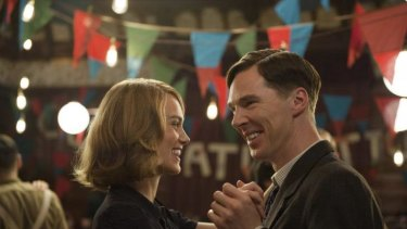 Close: Keira Knightley and Benedict Cumberbatch in <i>The Imitation Game</i>.