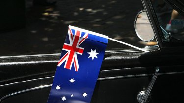 A total of 56 per cent of people with car flags feared their culture and values were in danger, according to the study.