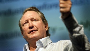 Fortescue chief Andrew Forrest.