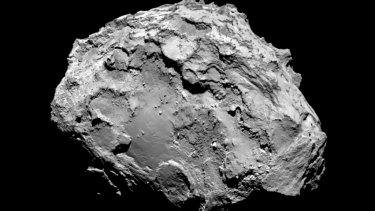 Rosetta's camera snaps Comet 67P/Churyumov-Gerasimenko.